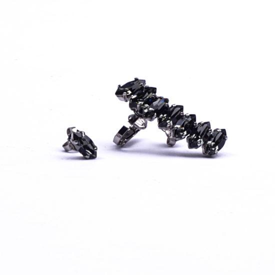 bigiotteria anelli diamanti neri